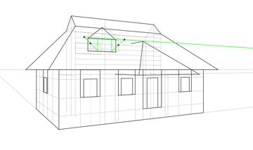 triangular window width in perspective