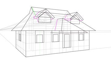 roof curvature in perspective