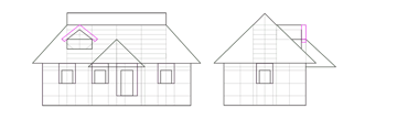 triangular window roof on roof