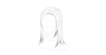 straight hair little strands