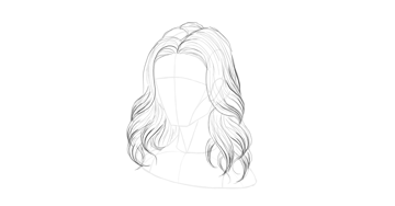 wavy hair detailed strands