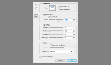 refine edge smart radius