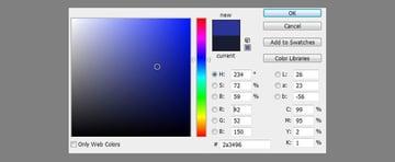 bright blue photo filter