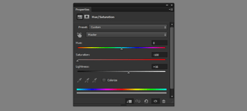 how to use hue saturation adjustment
