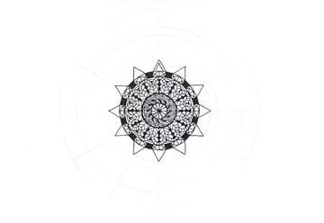 mandala inner triangle detail