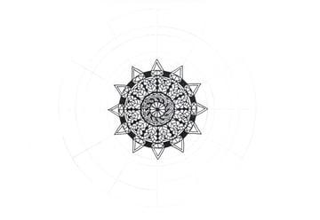 mandala triangle ornament