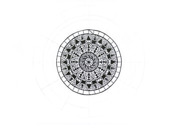mandala cross triangle