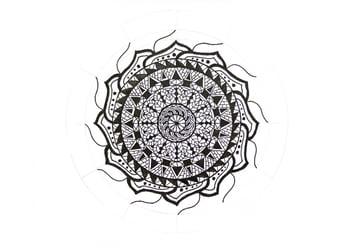 mandala huge petals sketched