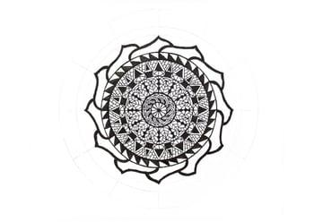 mandala dark petals