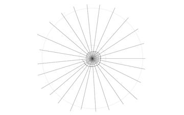 spider web drawing smaller circle