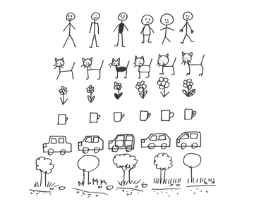 how to create simple drawing style