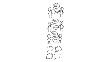 how to design simple speech bubbles