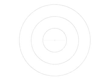 draw line across circle