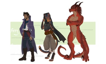 fantasy dnd anthro characters rainbow foxy