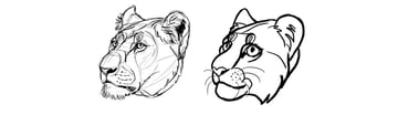 how to simplify animals cartoon
