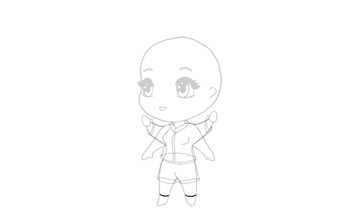 drawing chibi simple shoes