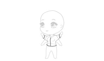 drawing chibi jacket details