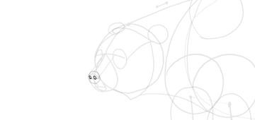 bear drawing nose holes