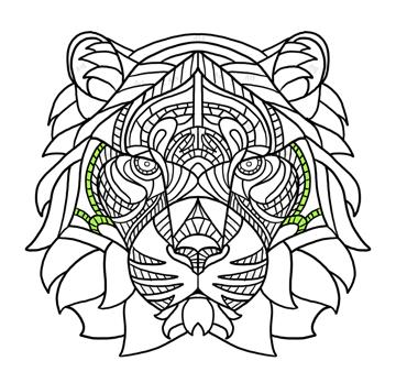 simple tiger pattern