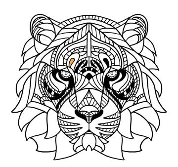 tiger eyebrows