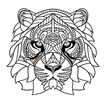 tiger pattern simple