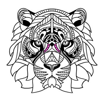 tiger nose pattern