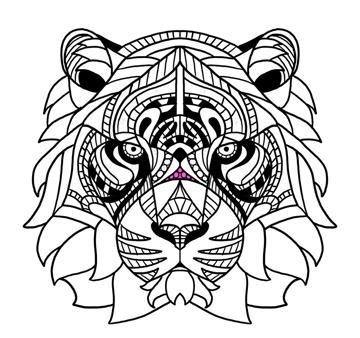 tiger nose decor
