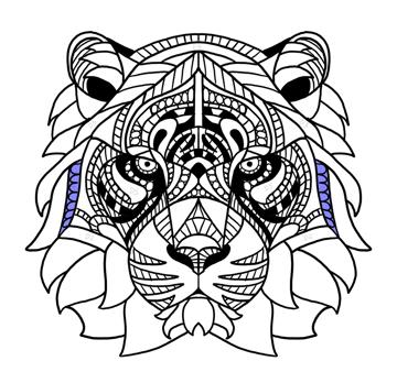 tiger mane pattern