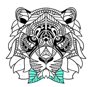 draw leaf pattern