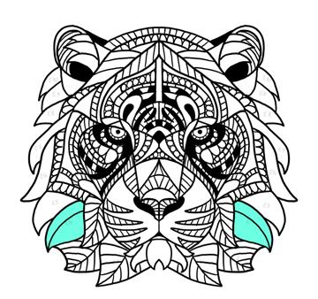 tiger fur sides
