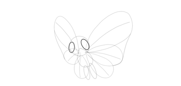 draw eyes of butterfree