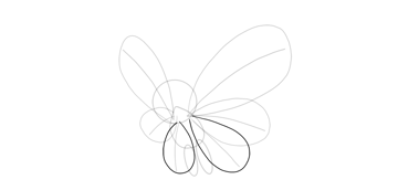 outline lower wings butterfree