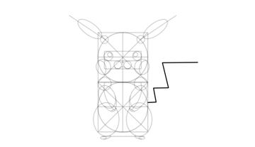 pikachu shape of tail