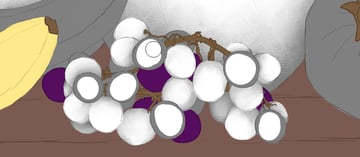 grapes with ambient occlusion