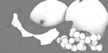 banana in ambient occlusion