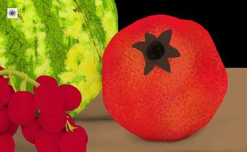 pomegranate surface texture