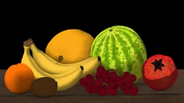 reveal light on pomegranate