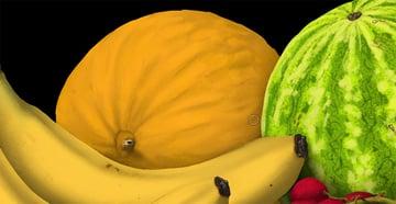paint melon surface