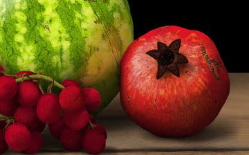 blend shine of pomegranate
