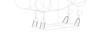 sketch pig hooves