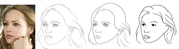 drawing nose various styles