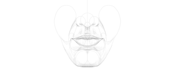 lips in front shading