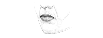 how to draw lips in perspective