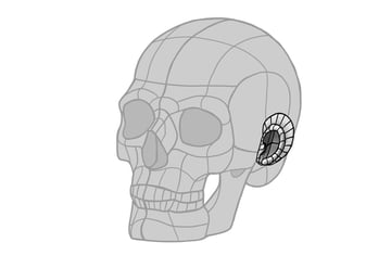 ear simple radar shape