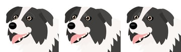 how to create vector dog eyebrows