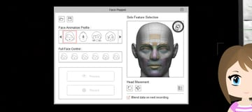 clear selection in facial animation