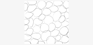 draw a pattern of ovals