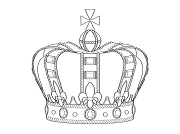 how to draw a crown step by step