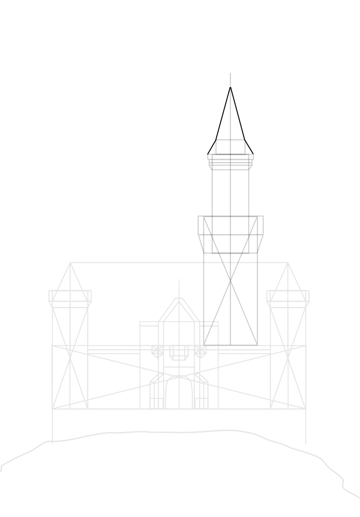 concil roof drawing