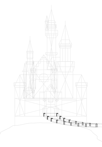 draw the stair posts